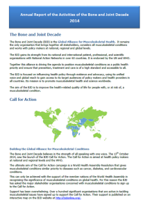 Annual Report of the Activities of the Bone & Joint Decade 2014