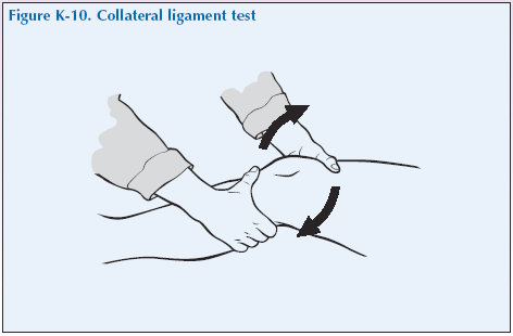 K-10 Collateral ligament test